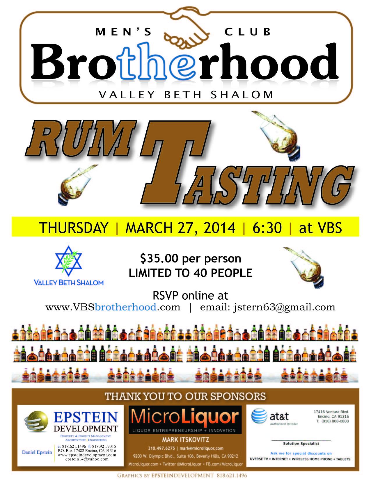 Rum tasting 2014